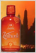 The structure of ZenThonic includes mangosteen juice and a mixture of various fruit extracts
